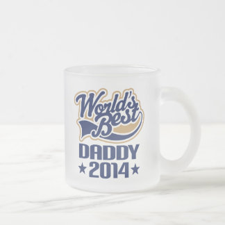 Gift Idea For Daddy 2014 (Worlds Best) Frosted Glass Coffee Mug
