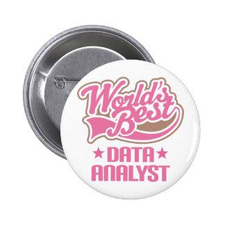Gift Idea For Data Analyst Women (Worlds Best Buttons