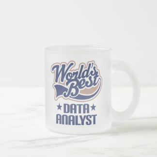 Gift Idea For Data Analyst (Worlds Best) Frosted Glass Coffee Mug