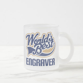 Gift Idea For Engraver (Worlds Best) 10 Oz Frosted Glass Coffee Mug