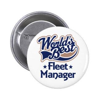 Gift Idea For Fleet Manager (Worlds Best) Button