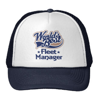 Gift Idea For Fleet Manager (Worlds Best) Mesh Hats