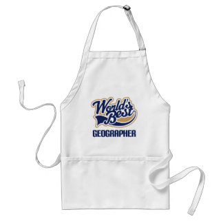 Gift Idea For Geographer (Worlds Best) Adult Apron