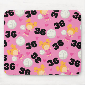 Gift Idea For Girls Volleyball Player Number 36 Mouse Pad