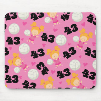 Gift Idea For Girls Volleyball Player Number 43 Mouse Pad