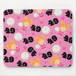 Gift Idea For Girls Volleyball Player Number 45 Mouse Pad