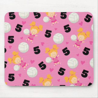 Gift Idea For Girls Volleyball Player Number 5 Mouse Pad