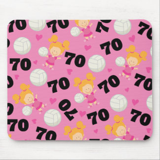 Gift Idea For Girls Volleyball Player Number 70 Mouse Pad