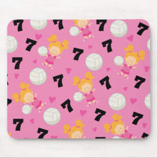 Gift Idea For Girls Volleyball Player Number 7 Mouse Pad