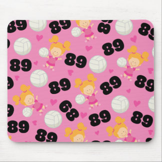 Gift Idea For Girls Volleyball Player Number 89 Mouse Pad