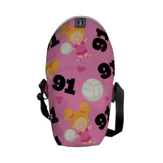 Gift Idea For Girls Volleyball Player Number 91 Courier Bags