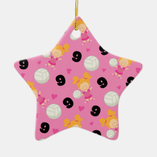 Gift Idea For Girls Volleyball Player Number 9 Ornament