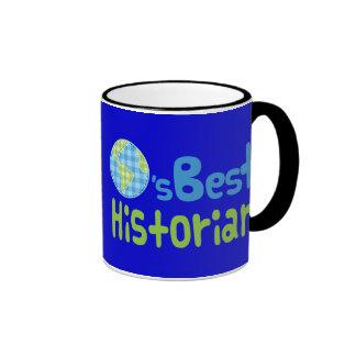 Gift Idea For Historian (Worlds Best) Ringer Mug