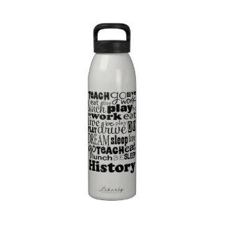 Gift Idea for History Teacher Reusable Water Bottles