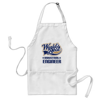 Gift Idea For Industrial Engineer (Worlds Best) Adult Apron