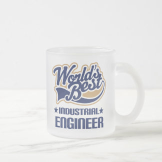 Gift Idea For Industrial Engineer (Worlds Best) Frosted Glass Coffee Mug