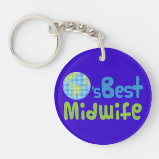 Gift Idea For Midwife (Worlds Best) Keychain