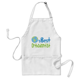 Gift Idea For Orthodontist (Worlds Best) Adult Apron