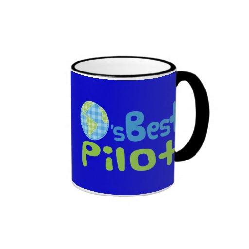 Gift Idea For Pilot (Worlds Best) Ringer Coffee Mug