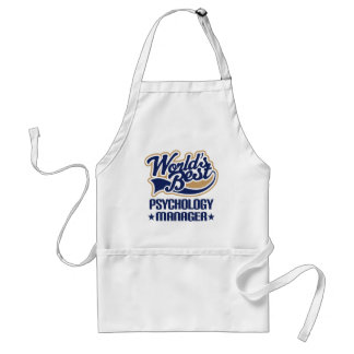 Gift Idea For Psychology Manager (Worlds Best) Adult Apron