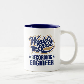 Gift Idea For Recording Engineer (Worlds Best) Two-Tone Coffee Mug