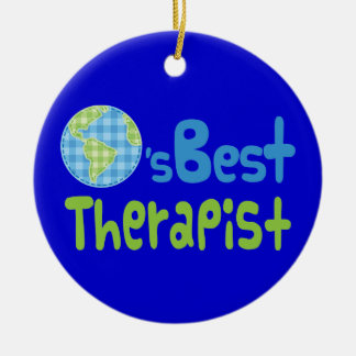 Gift Idea For Therapist (Worlds Best) Ornament