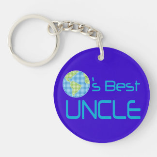 Gift Idea For Uncle (Worlds Best) Keychain