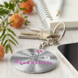 Gift ideas for Basketball Players NAME and NUMBER Key Chains