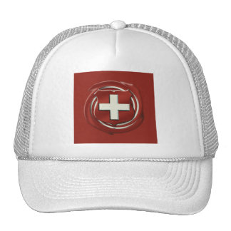 Gift ideas for Swiss people - The Swiss flag Hats