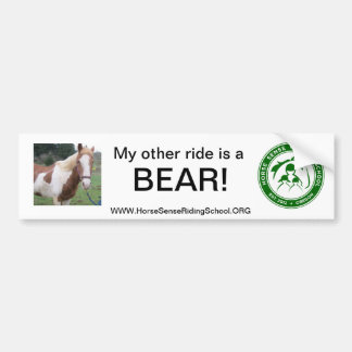 Gift Items from The Horse Sense Riding School Bumper Sticker