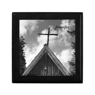 Gift/Jewelry Box, Old Church Black & White