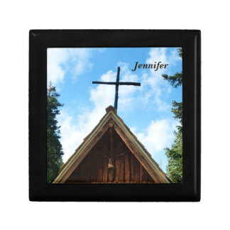 Gift/Jewelry Box, Old Church with Cross Keepsake Box
