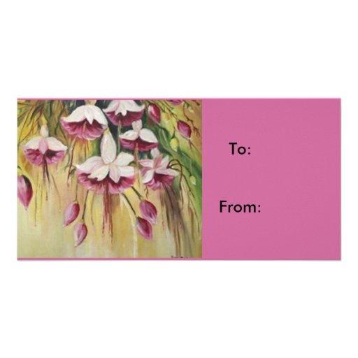 gift label tarjeta con foto personalizada