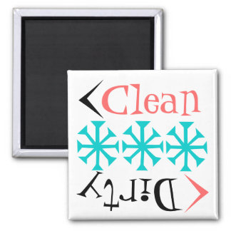 Gift Magnet Retro Tumblers Clean Dirty Dish washer