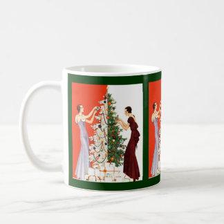 GIFT MUG ~ GR8 ART DECO STYLE CHRISTMAS HOLIDAY