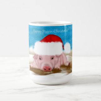 Gift Mug Happy Piggin Christmas - Holiday Pig Mug