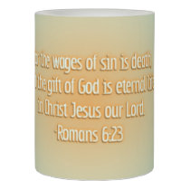 Gift of God Is Eternal Life Flameless Candle