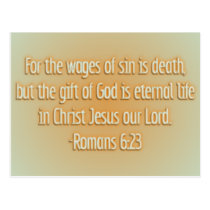 Gift of God Is Eternal Life Postcard