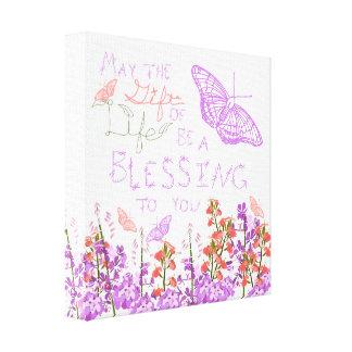 Gift of life butterflies canvas print