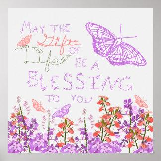 Gift of life butterflies poster