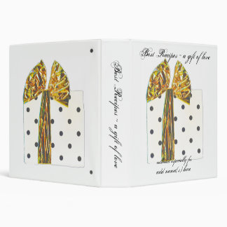 Gift of Love Best Recipes Book 3 Ring Binder