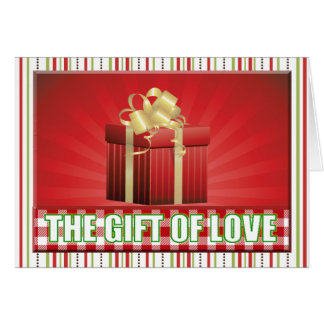 gift of love red green christmas greetings card