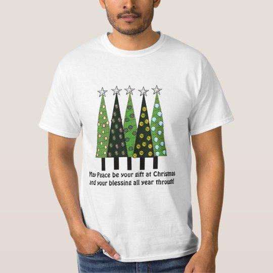 Gift of Peace Quote Christmas Tree shirt