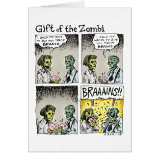 Gift of the Zombi Greeting Card