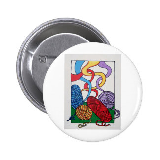 Gift of Wool by Piliero 2 Inch Round Button