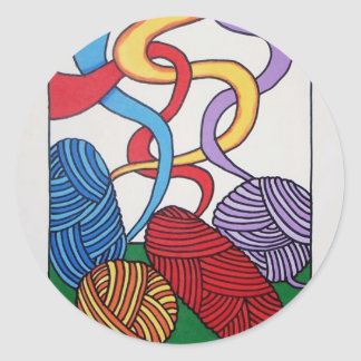 Gift of Wool by Piliero Classic Round Sticker