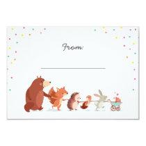 Gift poem Baby Shower insert card Woodland animals