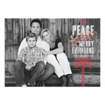 Gift Red Ribbon Wrapped Holiday Photo Card