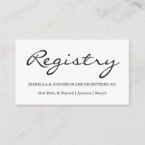 Gift Registry Enclosure Card