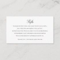 Gift Registry Insert Cards Black and White